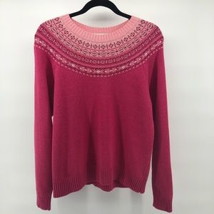 Pendleton Originals Cotton Pink Ombre Knit Sweater